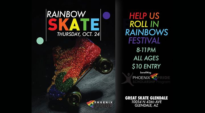 Rainbow Skate 2019 en Glendale le jue 24 de octubre de 2019 20:00-23:00 (After-Work Gay, Lesbiana)