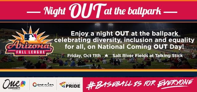 Night OUT at the Ballpark en Scottsdale le vie 11 de octubre de 2019 17:30-20:30 (After-Work Gay, Lesbiana)