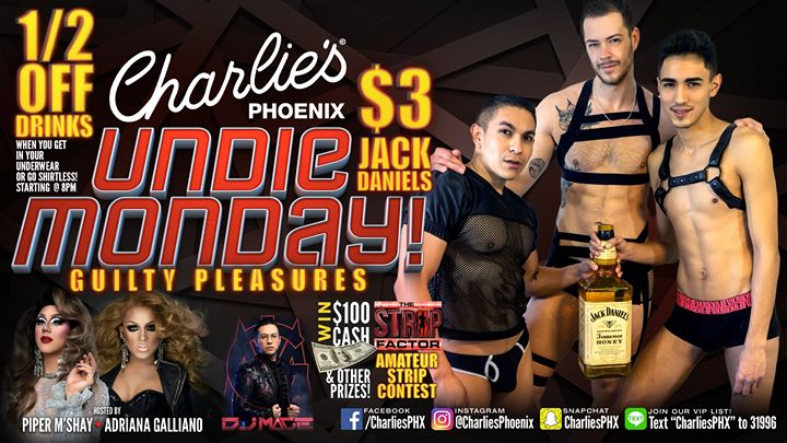 Undie Monday in Phoenix le Mon, December  2, 2019 from 08:00 pm to 02:00 am (After-Work Gay)