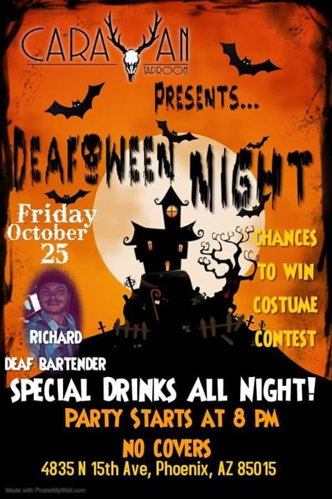 Drink N Sign DeafOween Night in Phoenix le Fri, August 28, 2020 from 07:00 pm to 02:00 am (After-Work Gay, Bear)