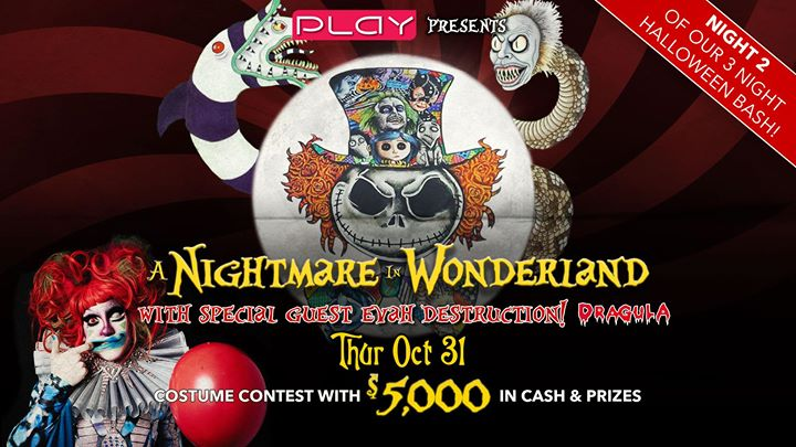 Halloween 2019 Night Two: A Nightmare In Wonderland en Nashville le jue 31 de octubre de 2019 20:00-03:00 (Clubbing Gay)
