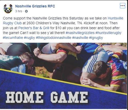 Grizzlies 3rd Half in Nashville le Sat, October 26, 2019 from 01:30 pm to 05:00 pm (After-Work Gay, Hetero Friendly)