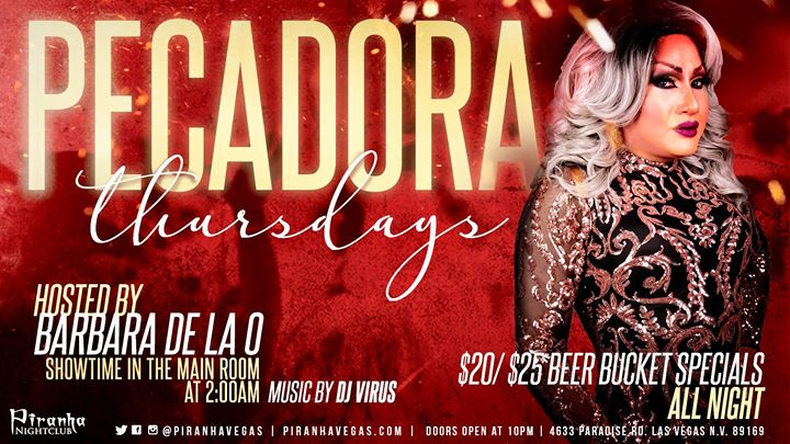 Las VegasPecadora Thursdays2019年10月17日,22:00(男同性恋 俱乐部/夜总会)