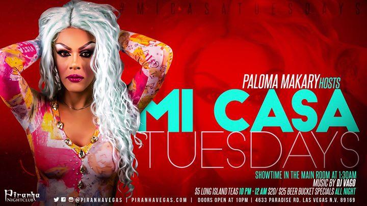 Mi Casa Tuesdays en Las Vegas le mar 23 de julio de 2019 22:00-17:00 (Clubbing Gay)