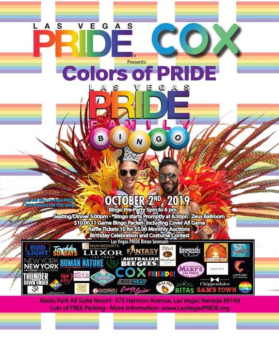 PRIDE Family BINGO a Las Vegas le mer  2 ottobre 2019 18:00-21:30 (After-work Gay, Lesbica)