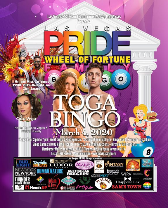 PRIDE Family BINGO a Las Vegas le mer  4 marzo 2020 17:00-21:30 (After-work Gay, Lesbica)