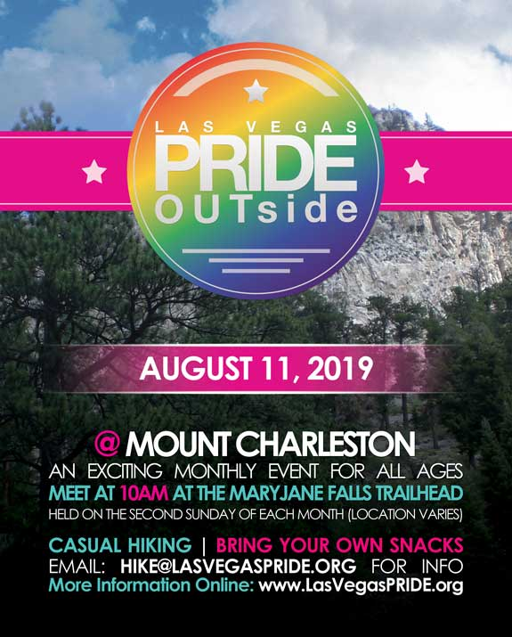 PRIDE OUTside - Hike in Las Vegas le Sun, August 11, 2019 from 10:00 am to 01:00 pm (Festival Gay, Lesbian)