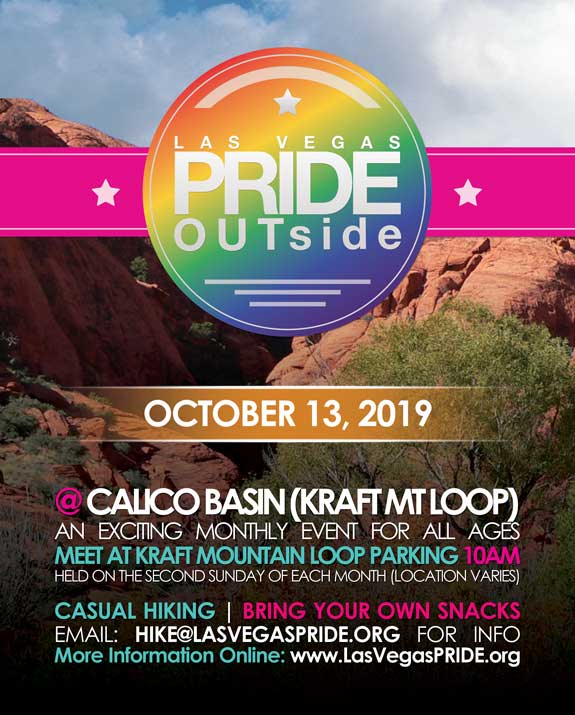 PRIDE OUTside - Hike a Las Vegas le dom 13 ottobre 2019 10:00-13:00 (Festival Gay, Lesbica)