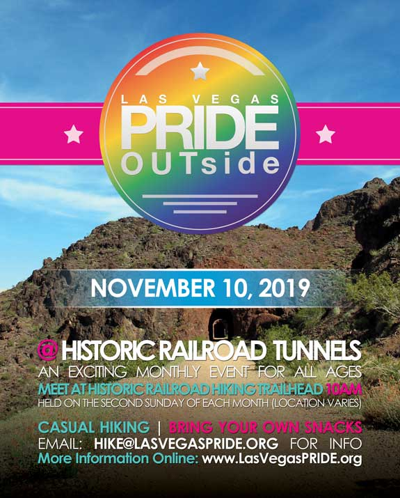 Boulder CityPRIDE OUTside - Hike2019年10月10日,10:00(男同性恋, 女同性恋 体育运动)