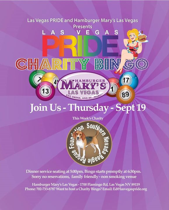 Las Vegas PRIDE Charity Bingo in Las Vegas le Thu, September 19, 2019 from 05:00 pm to 08:30 pm (After-Work Gay, Lesbian)