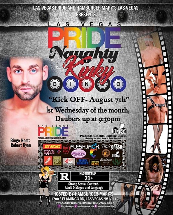 PRIDE Naughty Kinky BINGO in Las Vegas le Wed, September  4, 2019 from 09:30 pm to 11:00 pm (After-Work Gay, Lesbian)
