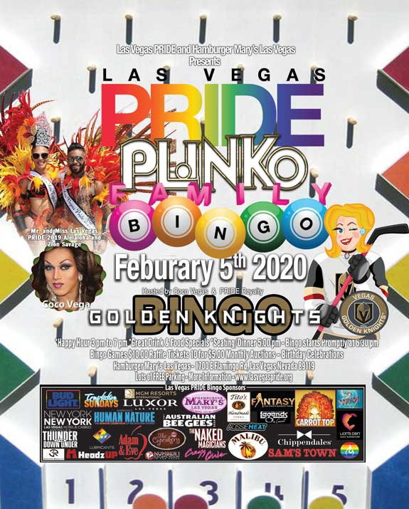 PRIDE Family BINGO in Las Vegas le Wed, February  5, 2020 from 05:00 pm to 09:30 pm (After-Work Gay, Lesbian)