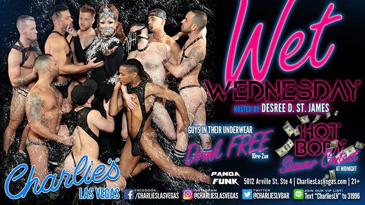 WET Wednesdays in Las Vegas le Mi  4. September, 2019 22.00 bis 04.00 (Clubbing Gay)