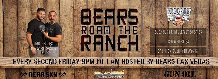 Bears Roam the Ranch! à Las Vegas le ven. 13 septembre 2019 de 21h00 à 01h00 (Clubbing Gay, Bear)