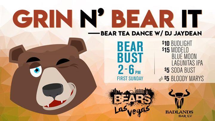 Grin N Bear It Sunday à Las Vegas le dim.  4 août 2019 de 14h00 à 18h00 (After-Work Gay, Bear)