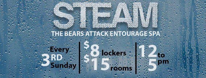 STEAM at Entourage à Las Vegas le dim. 18 août 2019 de 12h00 à 17h00 (Sexe Gay, Bear)