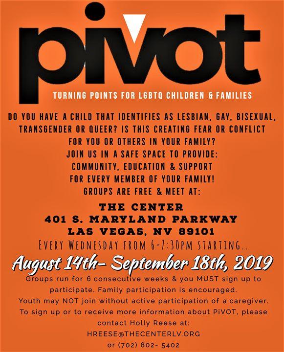 Pivot - Turning Points for LGBTQ Children & Families à Las Vegas le mer. 11 septembre 2019 de 18h00 à 19h30 (Rencontres / Débats Gay, Lesbienne, Trans, Bi)