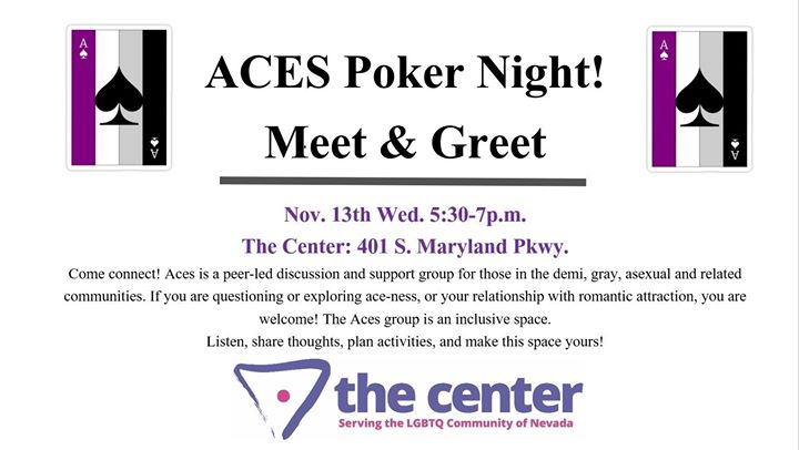Aces! Asexual Meet & Greet in Las Vegas le Wed, November 13, 2019 from 05:30 pm to 07:00 pm (Meetings / Discussions Gay, Lesbian, Trans, Bi)