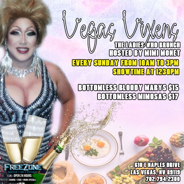 Vegas Vixens - The Ladies who Brunch in Las Vegas le Sun, June 14, 2020 from 10:00 am to 03:00 pm (Brunch Gay, Lesbian)