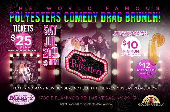 Polyesters Camp Comedy Drag Brunch à Las Vegas le sam. 20 juillet 2019 de 13h00 à 15h00 (Brunch Gay, Lesbienne, Trans, Bi)