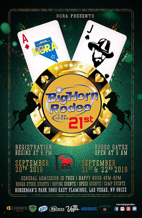 Las Vegas2019 BigHorn Rodeo从2019年10月22日到 9月21日(男同性恋 节日)