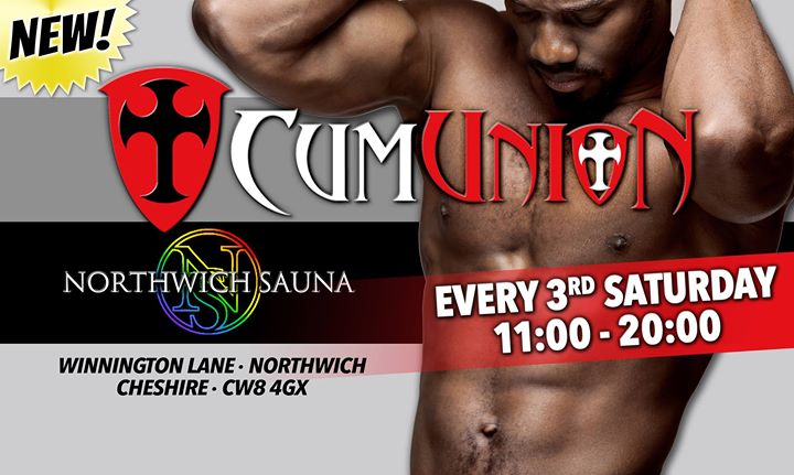 CumUnion at Northwich Sauna in Northwich le Sa 20. Juli, 2019 11.00 bis 20.00 (Sexe Gay)