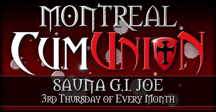 CumUnion at Sauna G.I. Joe in Montreal le Do 21. November, 2019 19.00 bis 03.00 (Sexe Gay)