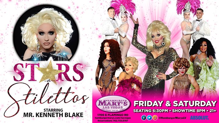 Las VegasSaturday Stars-n- Stilettos2019年 8月 9日,20:00(男同性恋 下班后的活动)