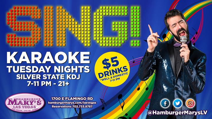 Las VegasSING! Karaoke Night2019年 7月19日,19:00(男同性恋 下班后的活动)