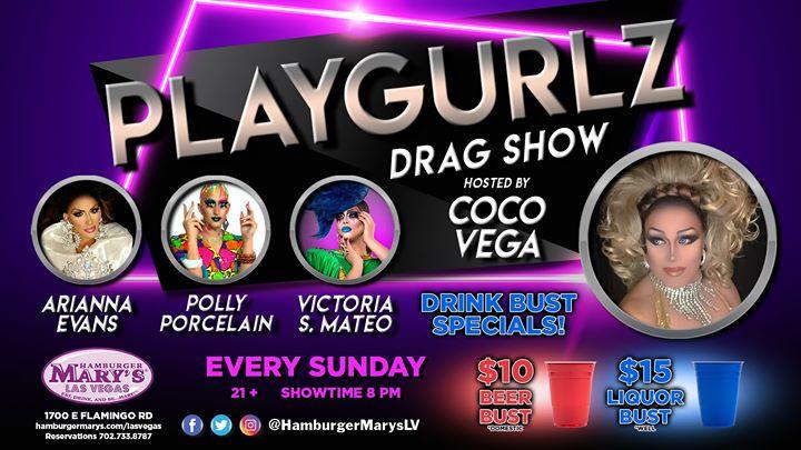 Las VegasPlaygurlz2019年 8月10日,20:00(男同性恋 下班后的活动)