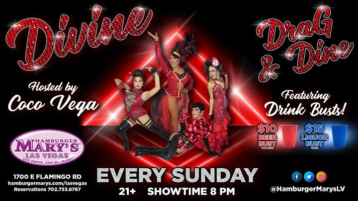 Divine DraG & Dine in Las Vegas le Sun, December 29, 2019 from 08:00 pm to 10:00 pm (After-Work Gay)