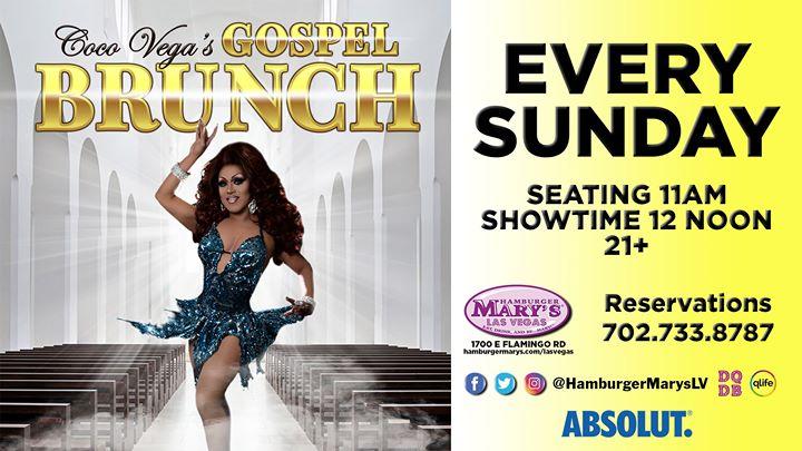 Las VegasGospel Brunch2019年12月27日,12:00(男同性恋 早午餐)