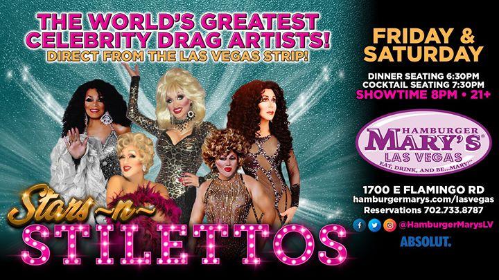 Las VegasSaturday Stars-n- Stilettos2020年 8月30日,20:00(男同性恋 下班后的活动)