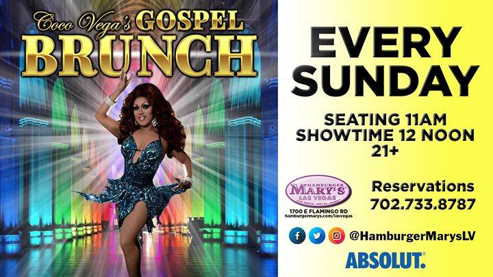 Gospel Brunch a Las Vegas le dom 15 dicembre 2019 12:00-14:00 (Brunch Gay)