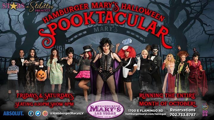 Las VegasSpooktacular Halloween Show!2019年 6月25日,18:30(男同性恋 下班后的活动)