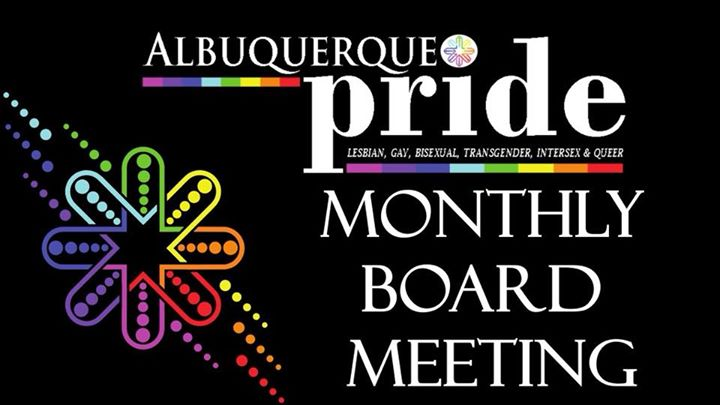 Monthly Board Meeting in Albuquerque le Mon, August 19, 2019 from 06:30 pm to 08:30 pm (Community life Gay, Lesbian, Trans, Bi)