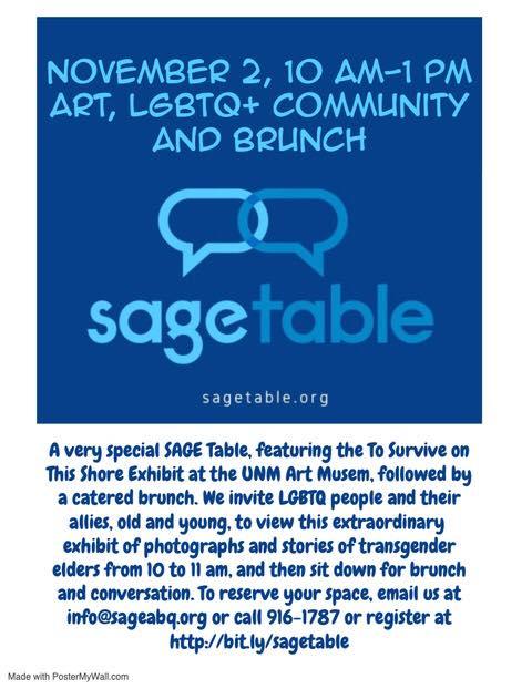 Art, LGBTQ+ Community, and Brunch a Albuquerque le sab  2 novembre 2019 10:00-13:00 (Brunch Gay, Lesbica, Trans, Bi)