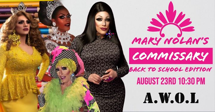 Commissary: Back to School edition à Columbus le ven. 23 août 2019 de 22h30 à 00h30 (Clubbing Gay)