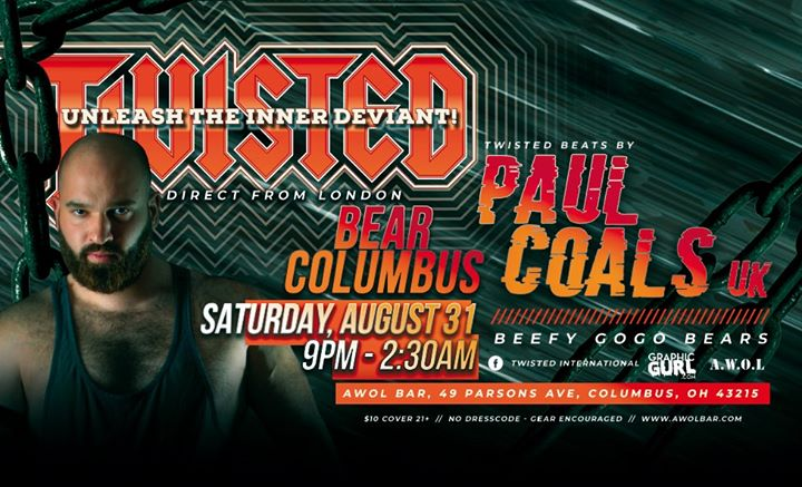 Twisted Bear Columbus | Direct from London in Columbus le Sat, August 31, 2019 from 09:00 pm to 02:30 am (Clubbing Gay)