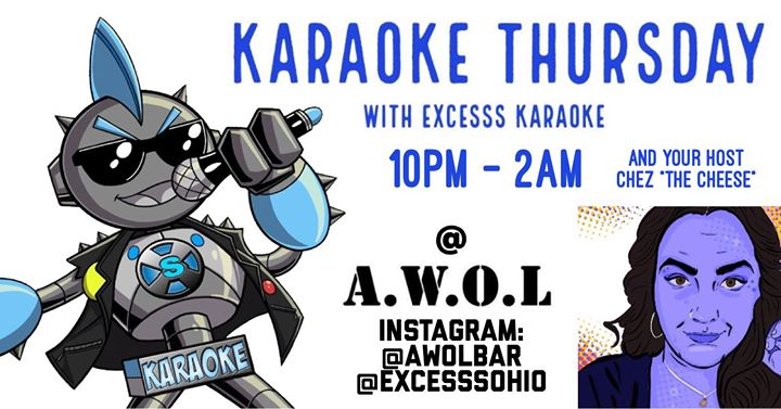 Karaoke Thursday at AWOL à Columbus le jeu. 12 septembre 2019 de 22h00 à 02h00 (Clubbing Gay)