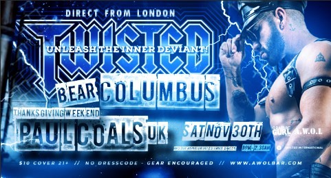 Twisted Bear Columbus | Direct from London à Columbus le sam. 30 novembre 2019 de 21h00 à 02h30 (Clubbing Gay)