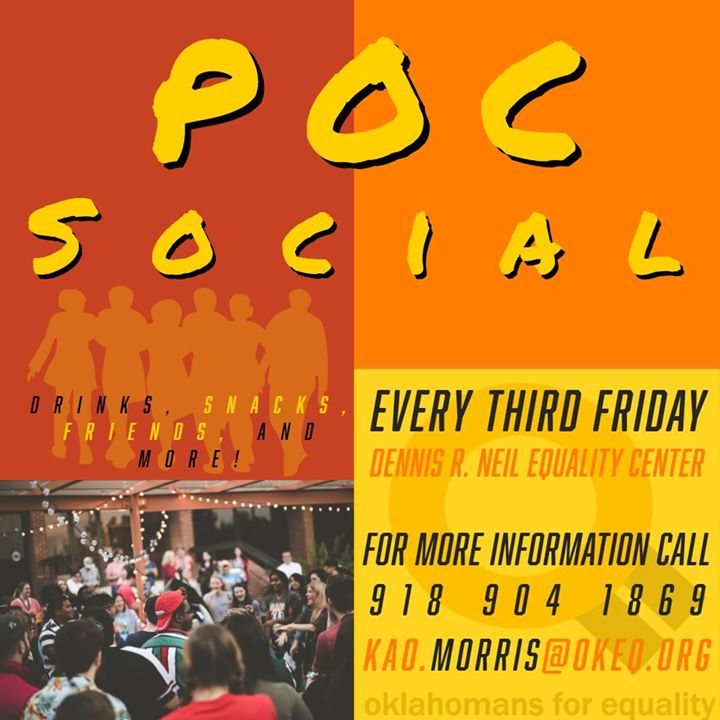 POC Social at OkEq in Tulsa le Fri, March 20, 2020 from 07:00 pm to 09:00 pm (Meetings / Discussions Gay, Lesbian)