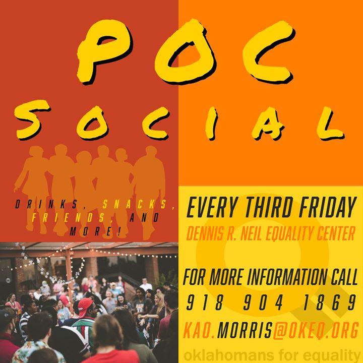 POC Social at OkEq in Tulsa le Fr 20. März, 2020 19.00 bis 21.00 (Begegnungen Gay, Lesbierin)