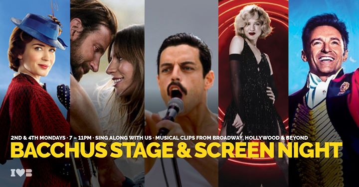 Bacchus Stage & Screen Night em Honolulu le seg, 24 fevereiro 2020 19:00-23:00 (After-Work Gay)