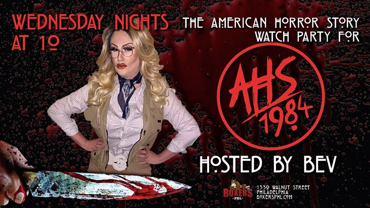 American Horror Story: 1984 Viewing à Philadelphie le mer. 20 novembre 2019 de 21h30 à 23h00 (After-Work Gay)