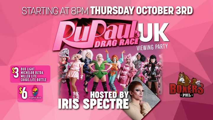 RuPaul's Drag Race UK- Viewing Party a Philadelphie le gio 14 novembre 2019 20:00-22:00 (After-work Gay)