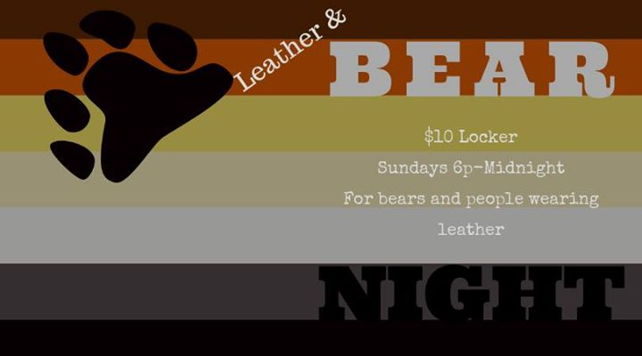 PittsburghSunday Leather and Bear Night2019年 6月25日,18:00(男同性恋 性别)