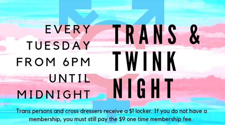Tuesday Trans & Twink Night en Pittsburgh le mar 20 de agosto de 2019 18:00-23:59 (Sexo Gay)