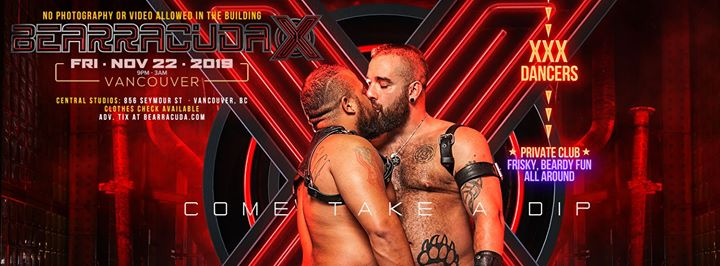 BearracudaX: Vancouver, BC - Tix Available at the Door! in Vancouver le Fri, November 22, 2019 from 09:00 pm to 03:00 am (Clubbing Gay, Bear)