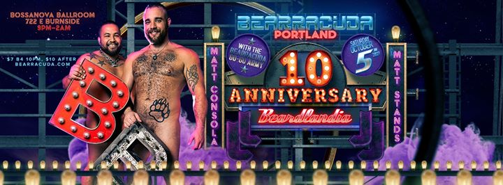 Bearracuda Portland 10 year anniversary: Beardlandia 2019! in Portland le Sat, October  5, 2019 from 09:00 pm to 02:00 am (Clubbing Gay, Bear)